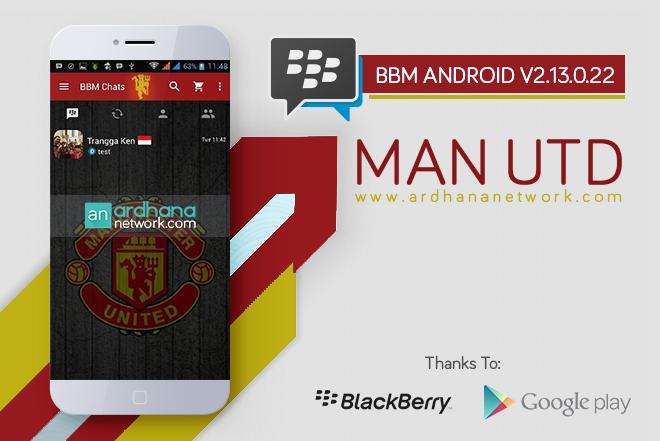 BBM Manchester United V2.12.0.11 - BBM MOD Tema Sepakbola