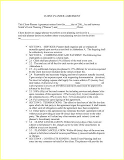 Resume Business Template Event Planning Contract