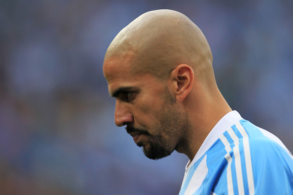 Juan Veron of Argentina during the 2010 FIFA World Cup South Africa Group B match between Argentina and Nigeria at Ellis Park Stadium on June 12, 2010 in Johannesburg, South Africa
