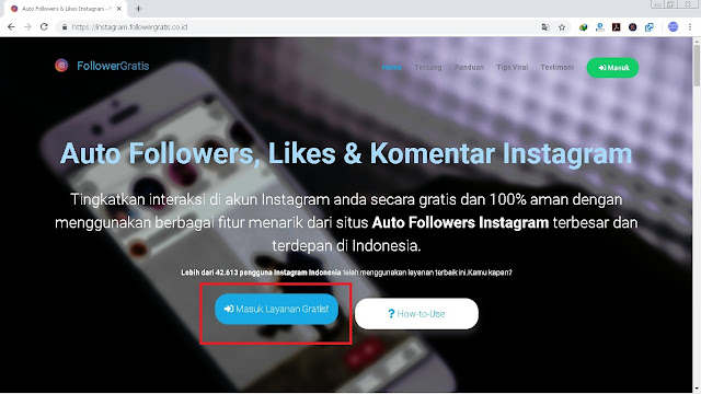 5 Langkah Cara Auto Like Instagram