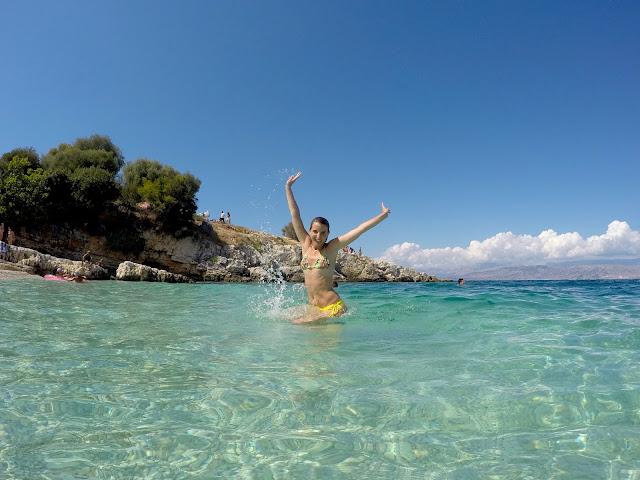 playa Kanoni, Corfu, Grecia