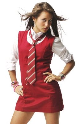 Foto de Denise Rosenthal con uniforme rojo