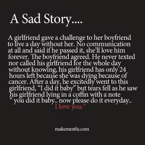It is my blog: A very short heart touching love story