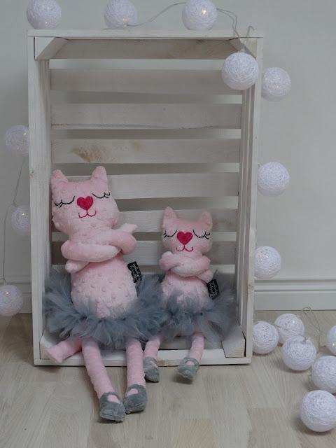baletnica kotek róż przytulanka 2