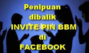 Penipuan Di balik Invite PIN di Facebook