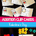 Valentine's Day Addition Clip Cards