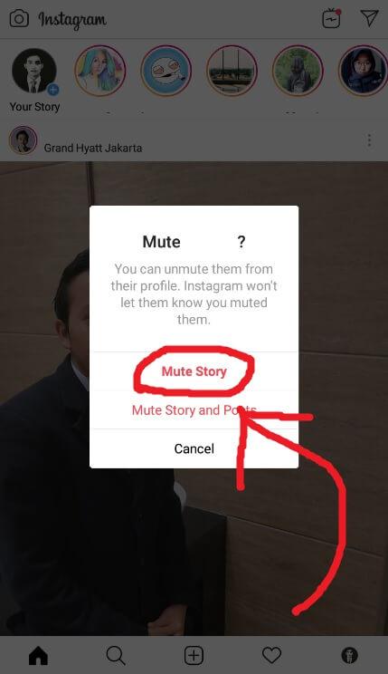 Pilih Mute Story Instagram