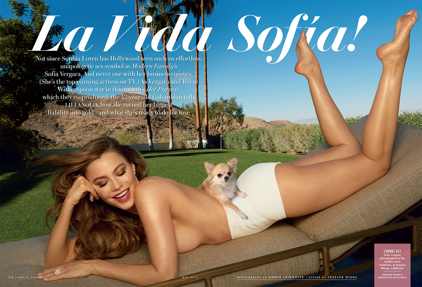 Sofia Vergara bares cleavage for Vanity Fair May 2015