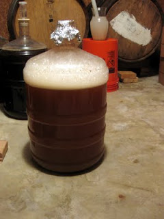 Spontaneous fermentation 24 hours after pitching.