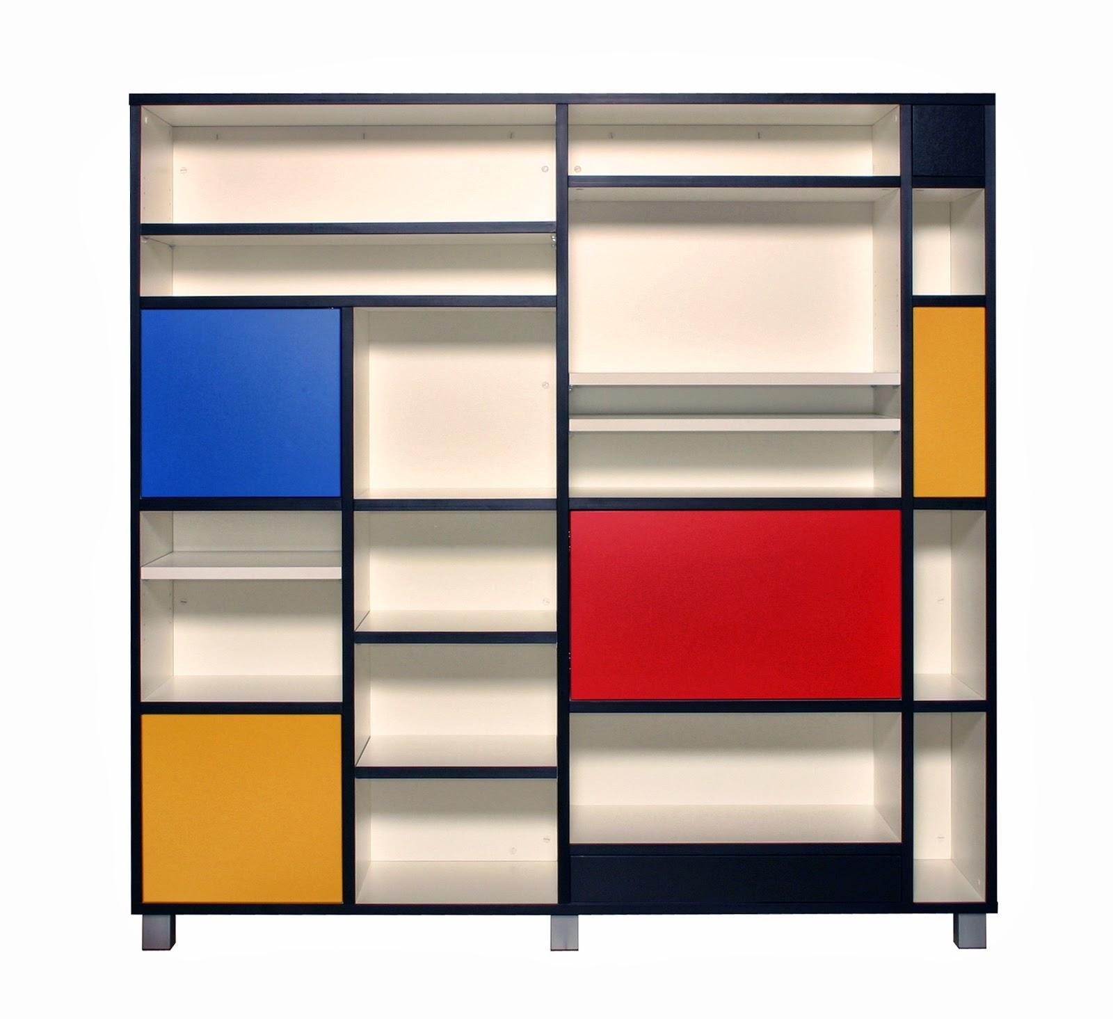 The Style Index Mondrian Inspired Bespoke Bookcase