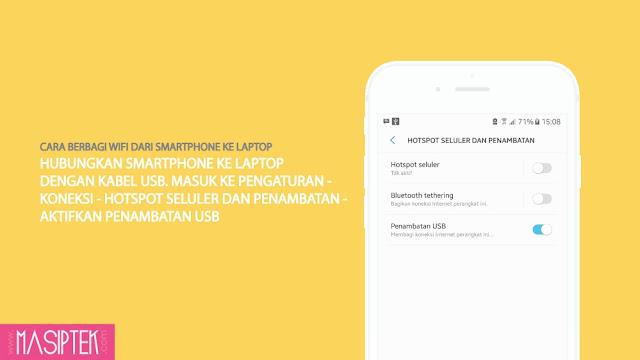 Cara Berbagi Koneksi Wifi Dari Smartphone ke Laptop