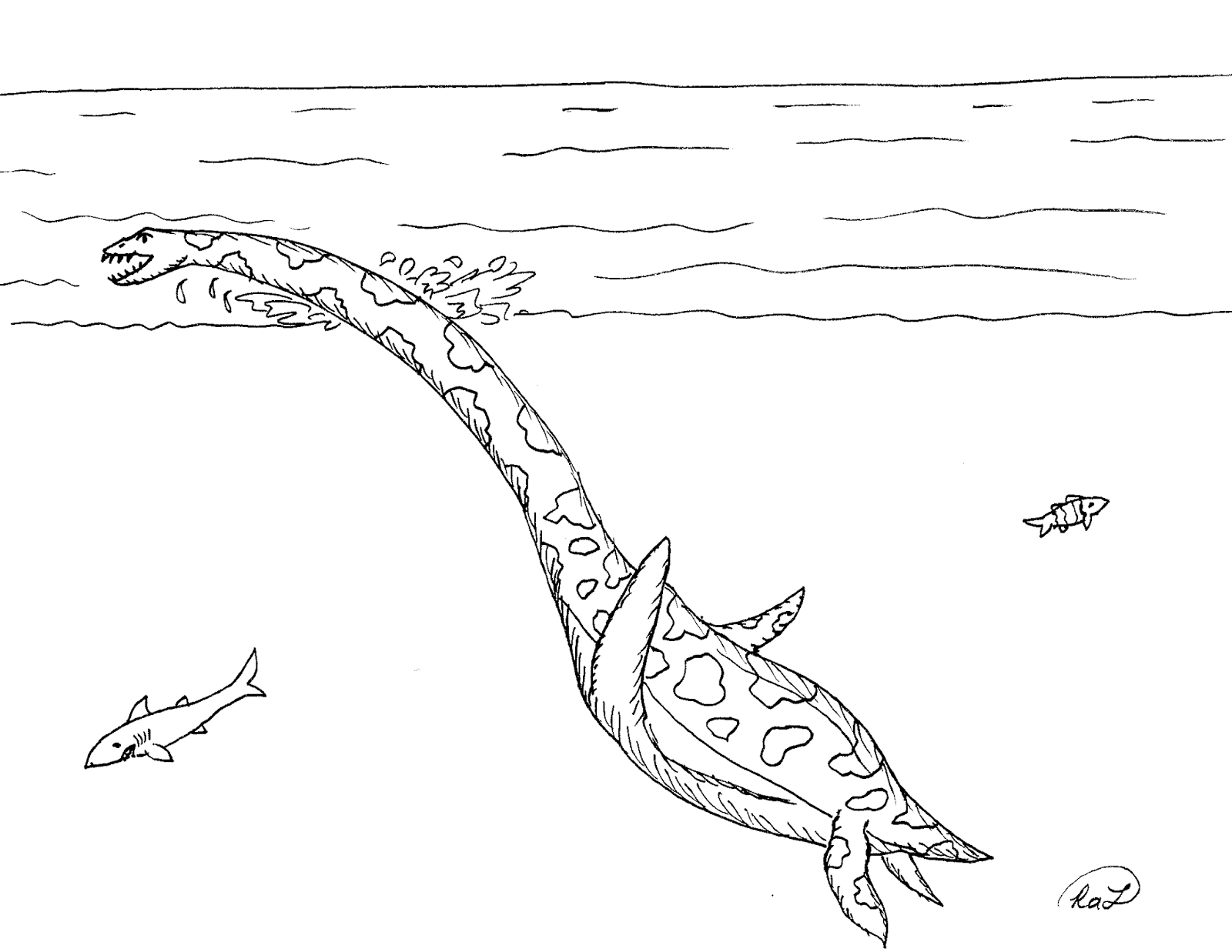 Robin's Great Coloring Pages: Marine Reptiles