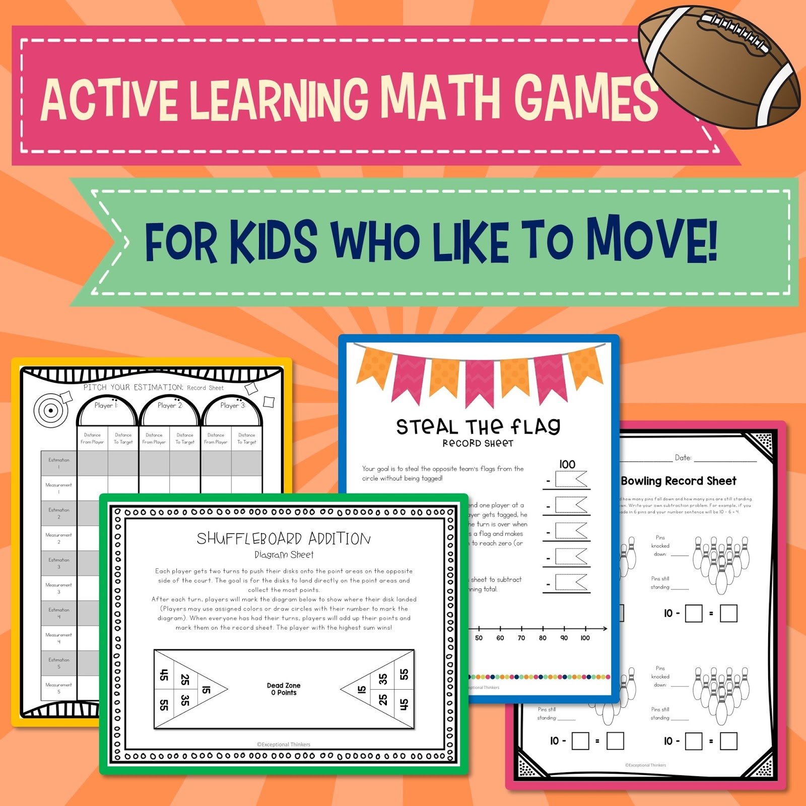 Math on the Move...Sports and Games for Active Kids! - Conversations ...