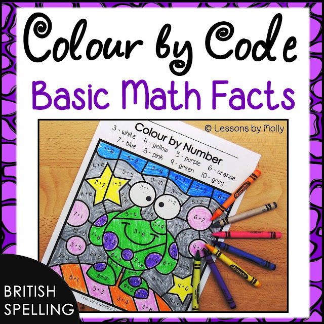 https://www.teacherspayteachers.com/Product/Math-Facts-Colour-by-Number-Additon-and-Subtraction-British-Spelling-3091414