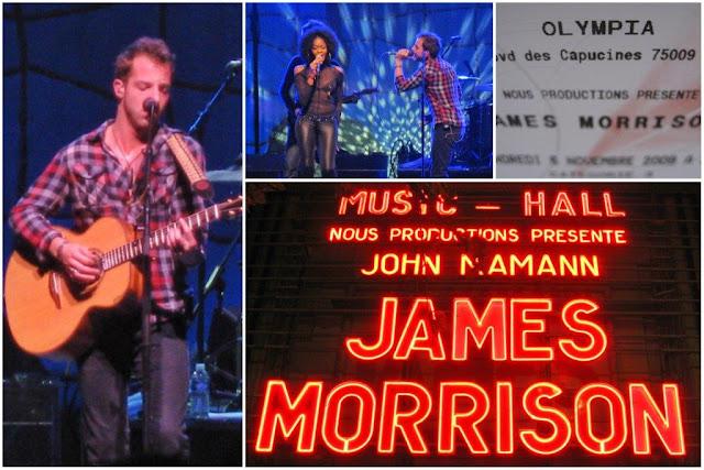 Concierto de James Morrison en la sala Olympia de París el 6 de noviembre de 2009