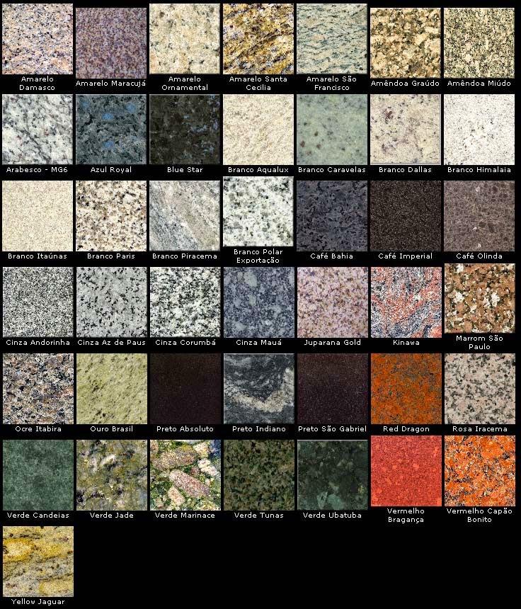 Minhacasanova bancadas da cozinha e banheiro - Tipos de granito ...