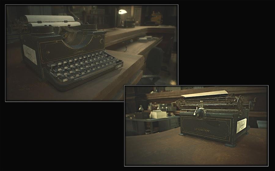 resident evil 2 remake rpd typewriter