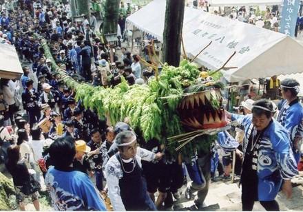 Jagamaita (Snake Festival) at Mamada Hachiman Shrine, Oyama City, Tochigi Pref.