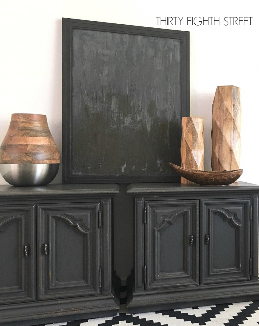 furniture refinishing, grey furniture, refinished furniture, painted furniture, furniture flip, chalk painted furniture