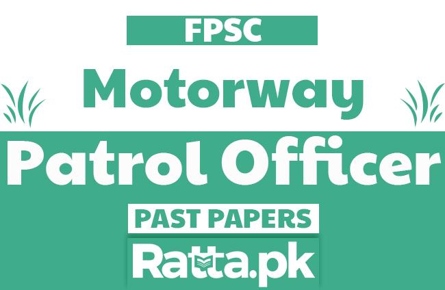 FPSC Patrol Officer Past Papers solved pdf of Motorway Police