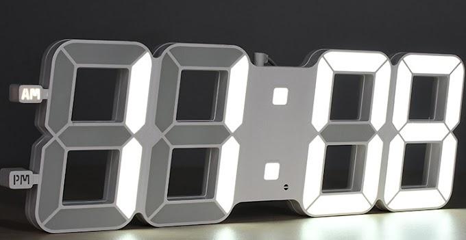 Đồng hồ treo tường Led 3D giá rẻ Hà Nội