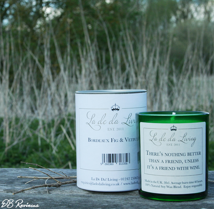Bordeaux Fig and Vetiver Candle from La De Da Living Range