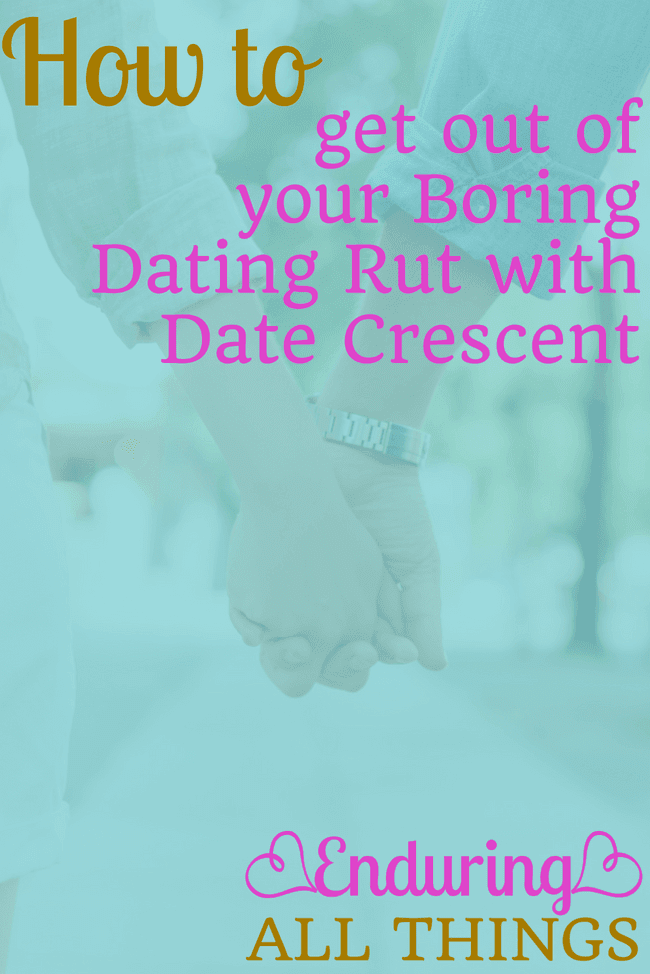 One of the biggest hindrances that gets in the way of regular date nights is the creativity and planning. Often we're discouraged because we don't want to do yet another dinner and a movie. Now there is a concierge service that does all the research and planning for you! Introducing Date Crescent!
