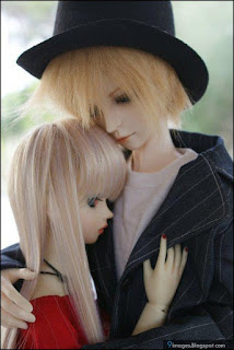 romantic doll couple wallpaper