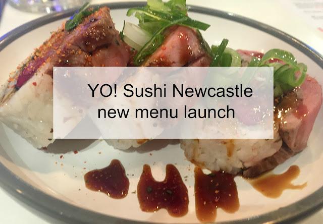 Yo Sushi Newcastle 2017 new menu launch