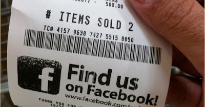 Facebook on Receipt