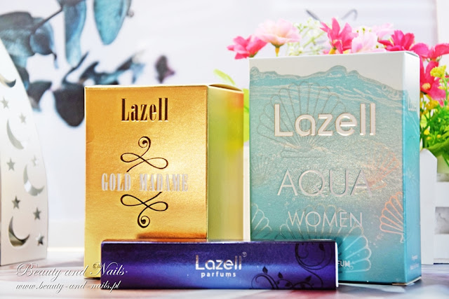 LAZELL PARFUMS - Gold Madame, Aqua i Elite.