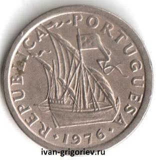 монета Португалии 1976 года