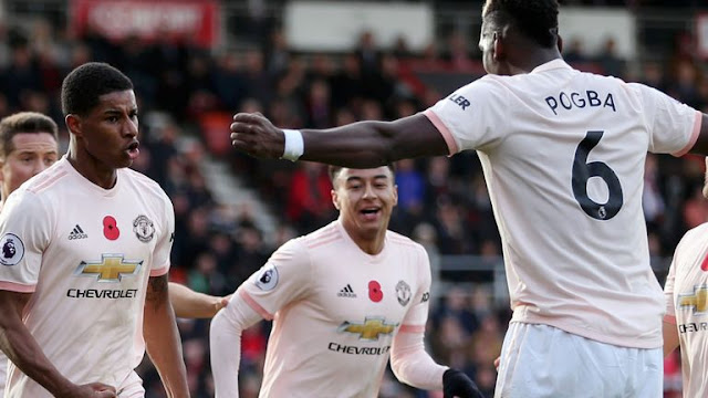 Rashford, Lingard and Paul Pogba Manchester united