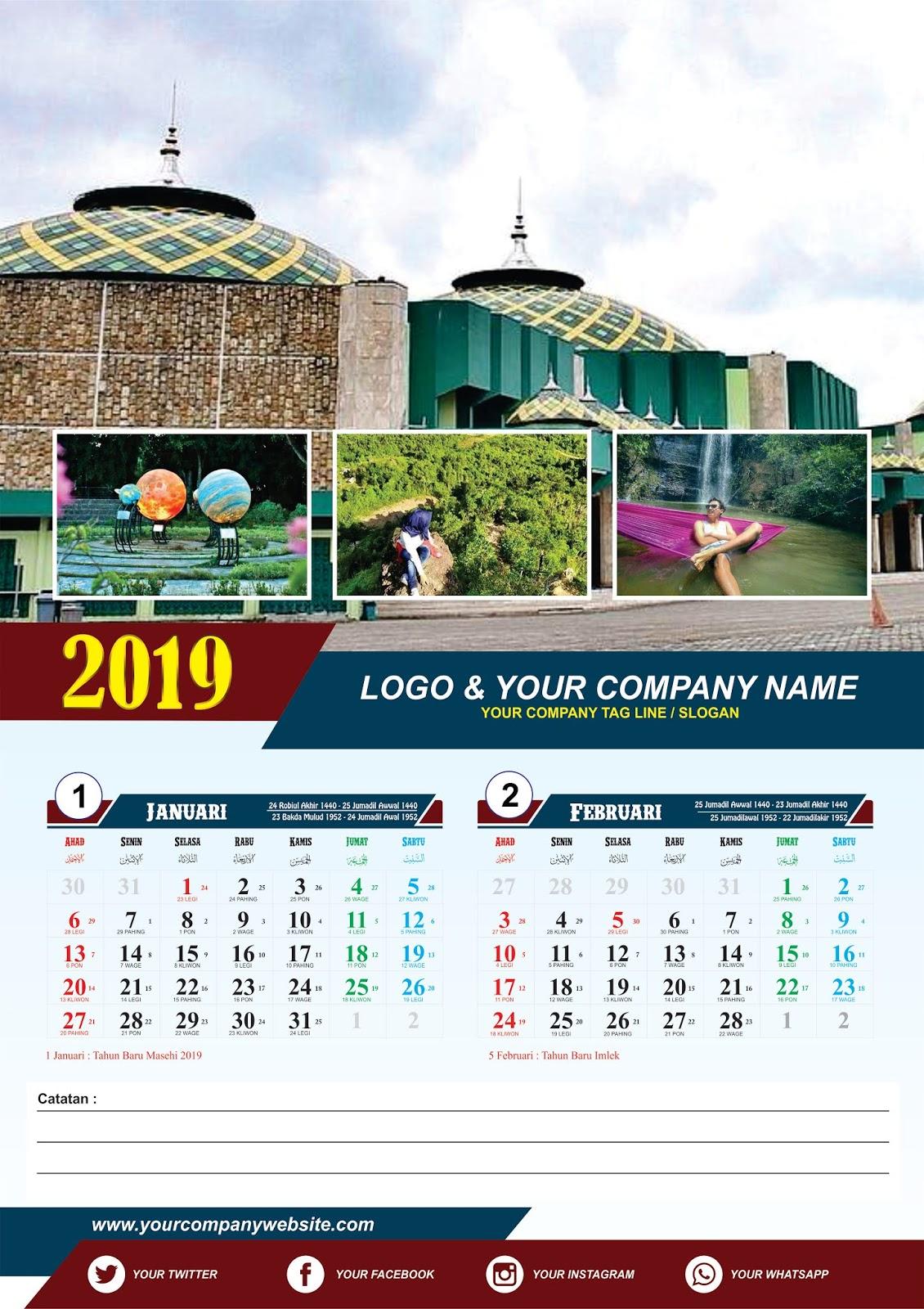 Desain Kalender Dinding di CorelDRAW [Free CDR ...