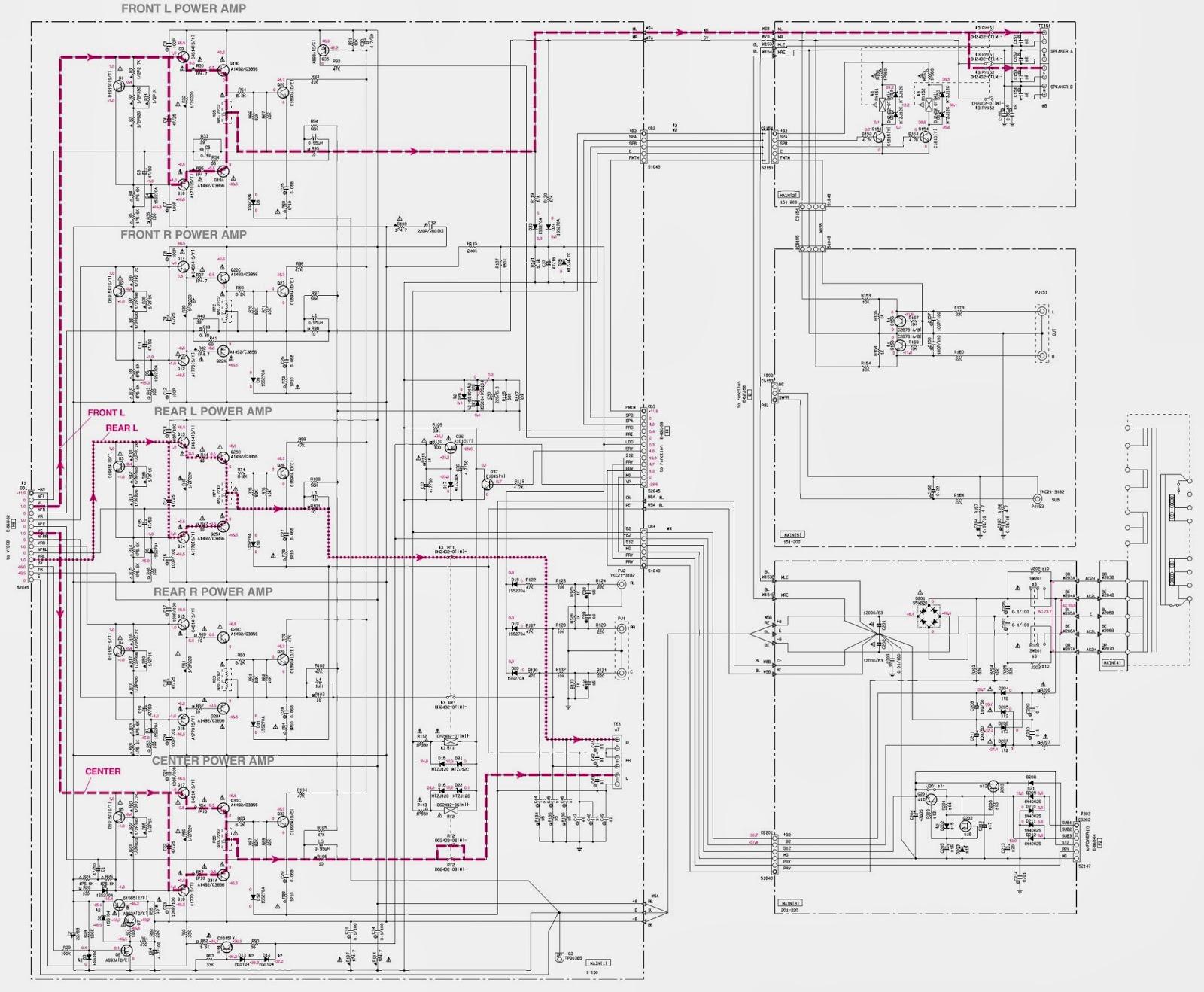 yamaha rx v800 rx v800rds htr 5280 u2013 av receiver power amp schematicamp schematic circuit diagram [ 1600 x 1318 Pixel ]