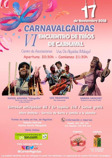 VI Encuentro de Trios de Carnaval en Villanueva de Algaidas