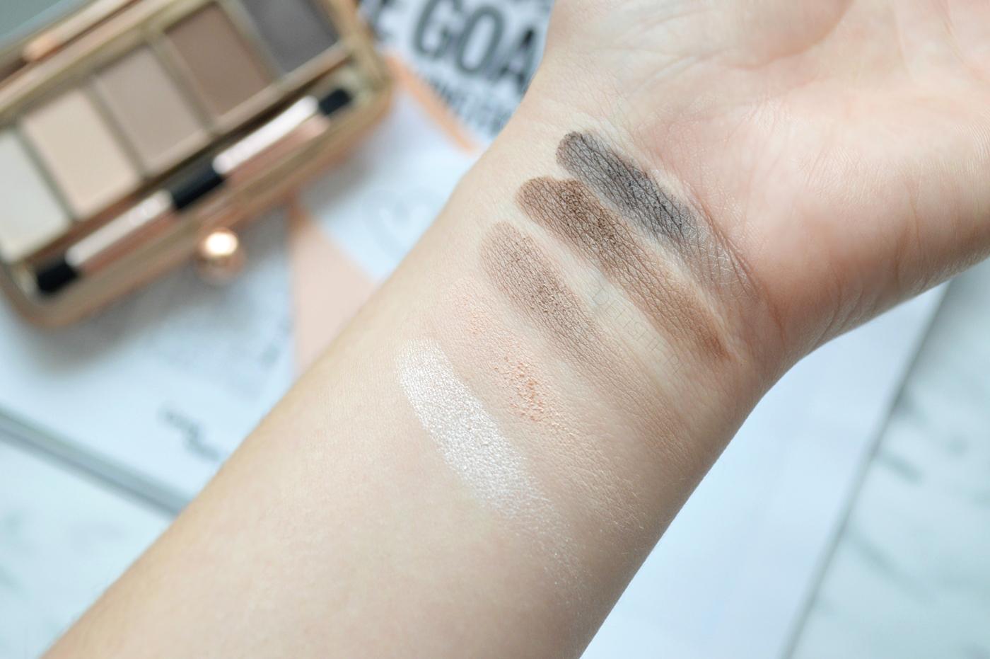 Renaissance Palette Day Makeup Revolution swatche
