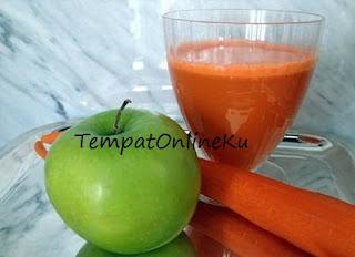 jus wortel campur apel enak sehat