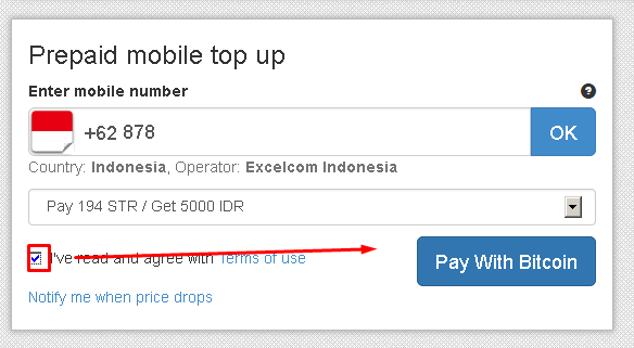 Top up your mobile with bitcoin