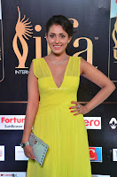 Madhu Shalini Looks Super Cute in Neon Green Deep Neck Dress at IIFA Utsavam Awards 2017  Day 2  Exclusive (20).JPG