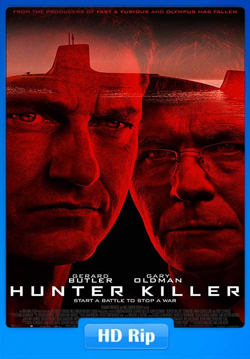 Hunter Killer 2018 English HDRip 720p x264 | 480p 300MB | 100MB HEVC