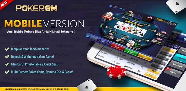 POKER8M Situs Agen Judi Kartu Online Indonesia terbaik  Slide-pokermobile