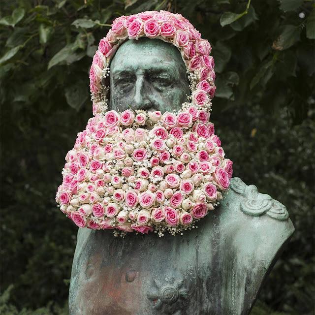 Die wilden Blumenbärte in Brüssel | Kreative Blumenkunst von Geoffrey Mottart