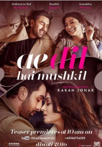 Ae Dil Hai Mushkil (2016) DVDScr Hindi Full Movie Watch Online Free