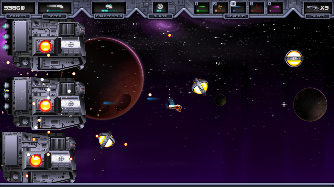 Things are escallating now: Taking on multiple enemies with the BUSCraft and some GLOWBalls.