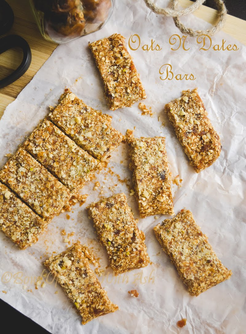 Healthy Oats and Dates Energy Bars Recipe | How To Make 2 ingredient Healthy Energy Bars