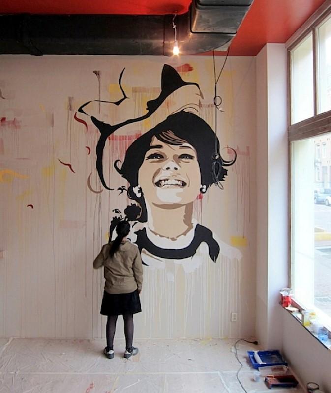 Уличные художники Andrea Michaelsson и Ilya Meyer 22
