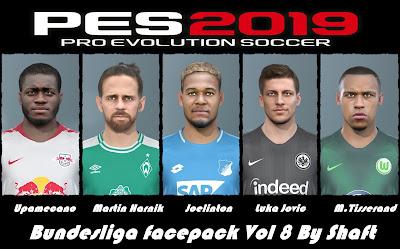 PES 2019 Bundesliga Facepack Vol 8 by Shaft