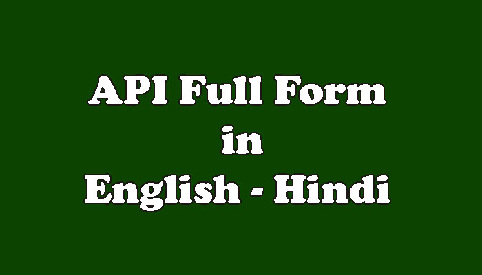 API Full Form in Hindi