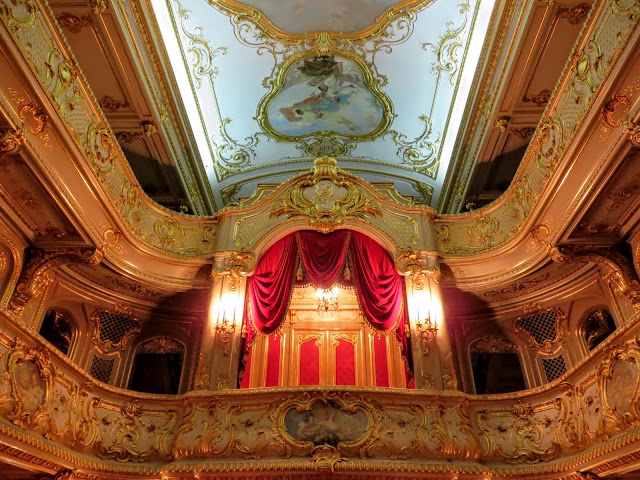 Theatre inside Yusupov Palace in St. Petersburg, Russia
